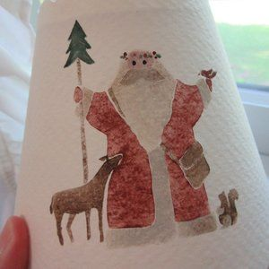 Holiday - Hand Painted Electric Candle Christmas SHADE